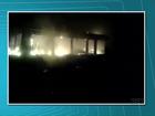 Incêndio destrói vagão de inspeção de linha em Ventania; assista ao vídeo