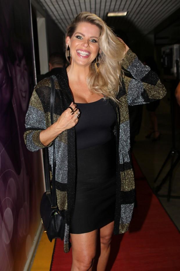 Karina Bacchi - Gravação DVD do cantor Zè Felipe (Foto: Thiago Duran/AgNews )