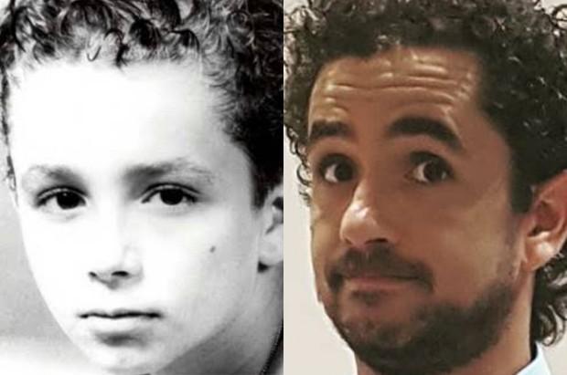 Felipe Andreoli quando criança e atualmente (Foto: Reprodução/Instagram)