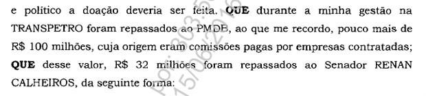Trecho Renan Calheiros delação Sergio Machado Lava Jato (Foto: Reprodução)