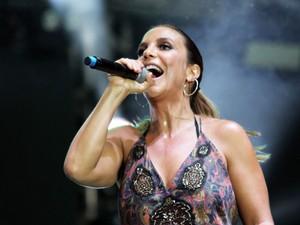 Ivete Sangalo fez participação no show do Psirico (Foto: Tiago Caldas/Ag. Haack)