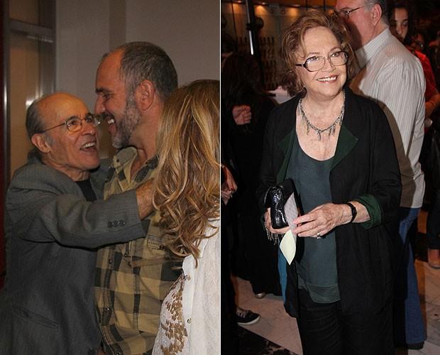 Osmar Prado e Humberto Martins (à esquerda) e Nathália Timberg (à direita) (Foto: Rogerio Fidalgo/AgNews)