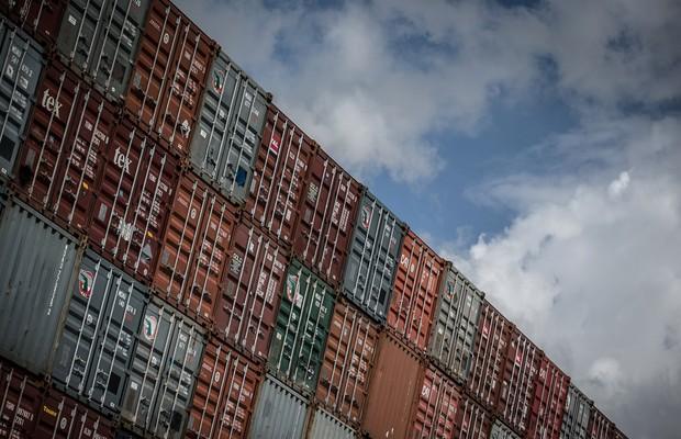 Contêineres no porto de Southampton, Reino Unido (Foto: Matt Cardy/Getty Images)