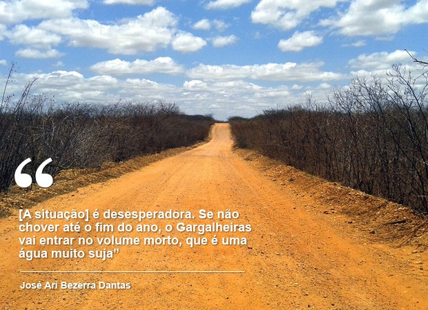 População de Acari já convive com rodízio no abastecimento de água (Foto: Fred Carvalho/G1)