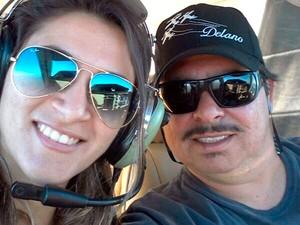 Lourena Michele, de 22 anos, acompanhava o marido, o piloto Delano Martins Coelho, de 36    (Foto: Arquivo da família)