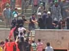 Visita da Fifa a estádio da Copa em MT tem tumulto com manifestantes