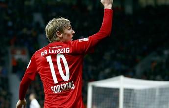 RB Leipzig anuncia a renovação de Forsberg, maior garçom do Alemão