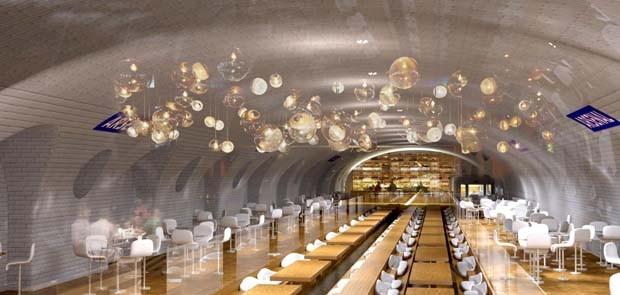 Campanha propõe transformar estações de metrô abandonadas em baladas e piscinas em Paris (Foto: Divulgação)