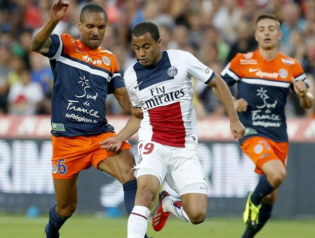 Lucas jogo PSG contra Montepellier (Foto: EFE)