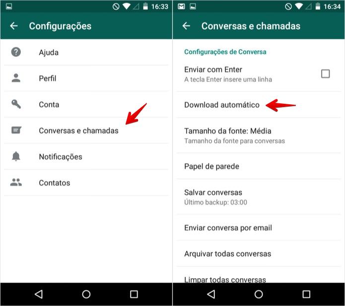 Abra as configurações de download (Foto: Reprodução/Helito Bijora)