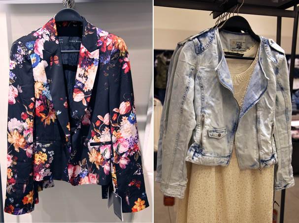 Blazer florido e a jaquetinha délavé (Foto: Luciana Florence)