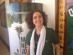 Coordenadora nacionado projeto 'Florestabilidade', Lisa Ribeiro (Foto: Cassio Albuquerque/G1)