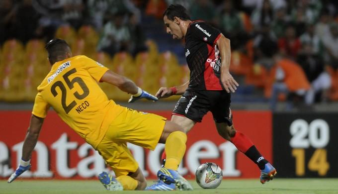 Maxi Rodríguez, Nacional de Medellín 1 x 0 Newell's, Libertadores (Foto: EFE)