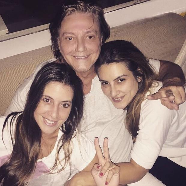 Fabio Jr com Cleo Pires e Kika Galvão (Foto: Instagram / Reprodução)