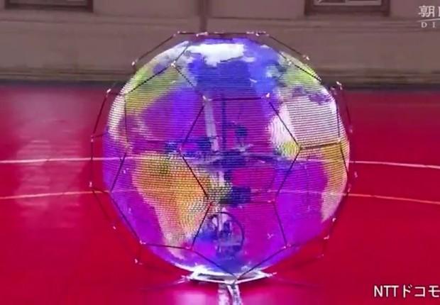 Drone da NTT DoComo é capaz de fazer imagens esféricas (Foto: Reprodução/YouTube)