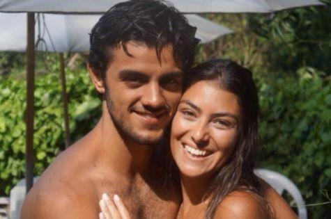 Felipe Simas com a mulher, Mariana Uhlmann (Foto: Reprodução)