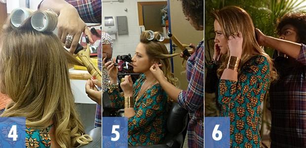 Passo a passo do cabelo de Shirley 2 (Foto: Em Família/TV Globo)