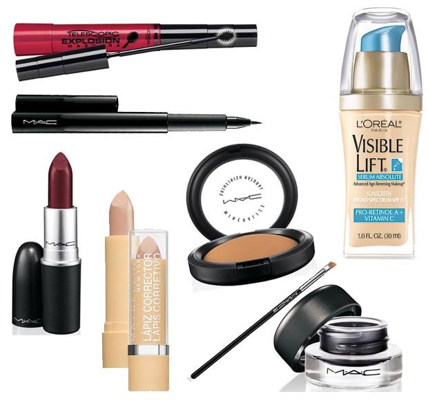 No quesito maquiagem, os preferidos são delineador, bronzer e batom Diva, da M.A.C, base Invisible Lift e rímel Telescopic explosion, da L´Oréal e corretivo da Maybelline (Foto: Reprodução )