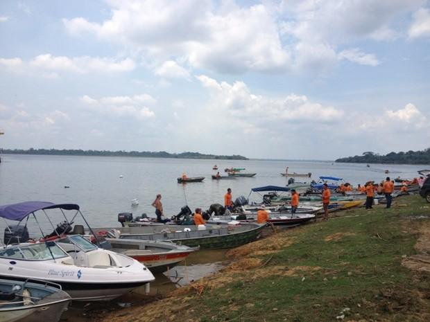 Mais de 150 equipes participaram da competição neste domingo, em Candeias do Jamari, RO. (Foto: Vanessa Vasconcelos/G1)