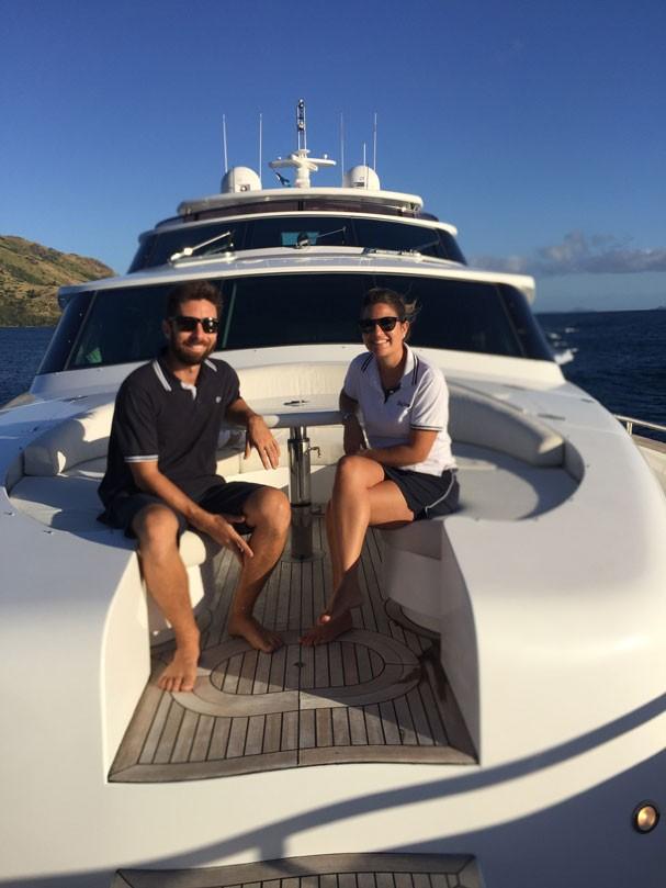 O casal na ilha da Nova Caledônia (Foto: Acervo pessoal)