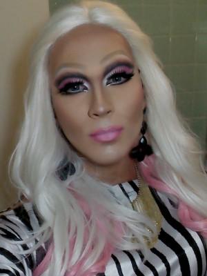 Rafael Mello passo a passo maquiagem drag queen Mistura com Rodaika Sarah vika (Foto: Arquivo Pessoal)