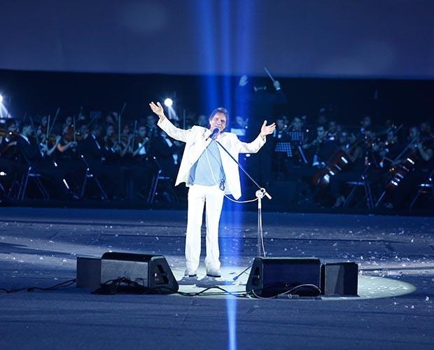 E ele não poderia faltar: o Rei! (Foto: Raphael Dias / Gshow)