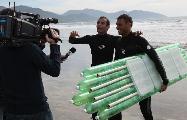 Surfe no RBS Esporte (Foto: Marcus Israel)