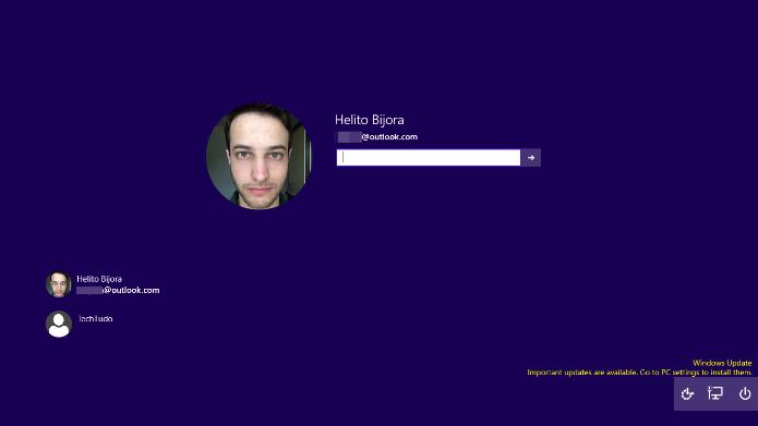 Saiba como habilitar a nova tela de login do Windows 10 (Foto: Reprodução/Helito Bijora)