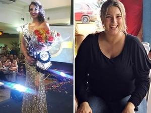 Cristiane Rodrigues foi a vencedor do concurso Miss Barátrica 2016 (Foto: Montagem G1)