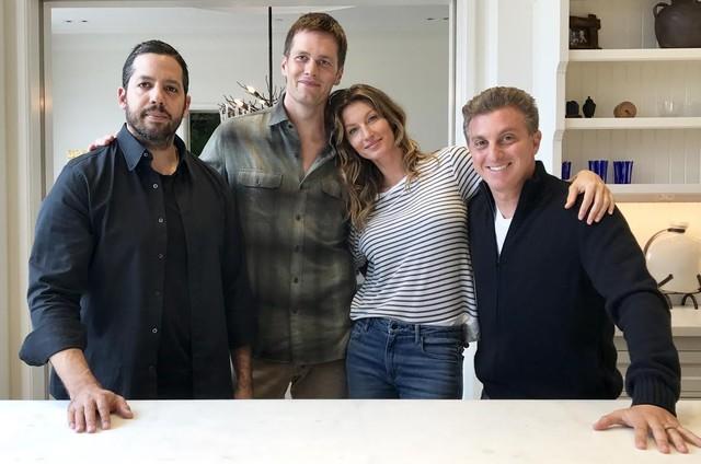 David Blaine, Gisele Bündchen, Tom Brady e Luciano Huck (Foto: Arquivo pessoal)
