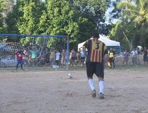 Festejo de São Sebastião tem partida de futebol  (Foto: Reprodução)