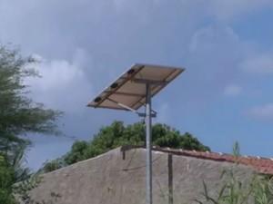 Sistema de energia elétrica abastece 11 casas na localidade (Foto: Reprodução/TV São Francisco)