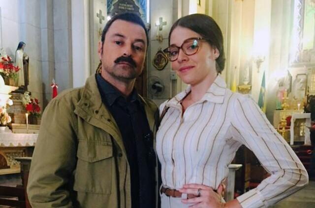 Luma Costa posa com Emílio Orciollo Netto (Foto: Arquivo pessoal)