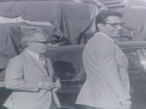Élcio Álvares recebe presidente Ernesto Geisel em Vitória (Foto: Reprodução/ TV Gazeta)