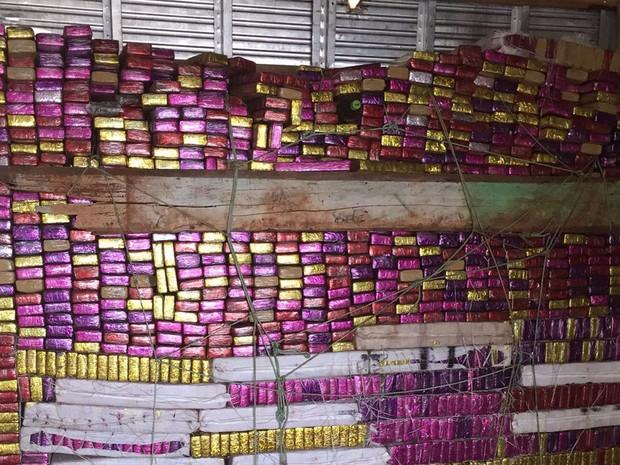Droga foi encontrada em veículo que saiu de Mato Grosso, segundo polícia (Foto: Divulgação/ PF-BA)