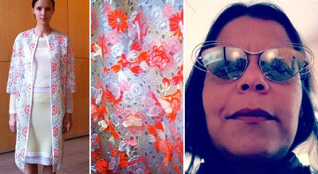 A coleção de verão 2013 da Erdem, com óculos em parceria do estilista com Linda Farrow (Foto: Reprodução/Instagram)