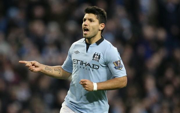 Sergio Agüero Manchester City (Foto: AP)
