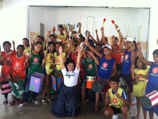 Crianças atendidas pelo projeto (Foto: Divulgação)