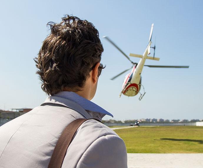 Luís Fernando vê a aeronava cair (Foto: Fabiano Battaglin/Gshow)
