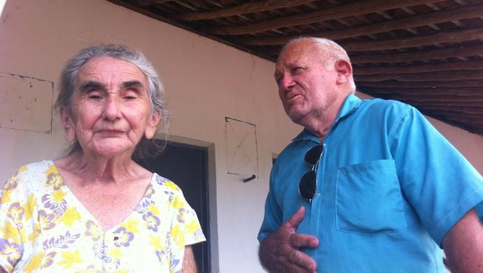 Seu Sebastião e Dona Mariazinha Cerapió Viçosa do Ceará (Foto: João Marcelo Sena)