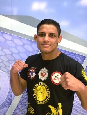 Fabrício Guerreiro, lutador MMA, Amapá (Foto: Cassio Albuquerque/GE-AP)