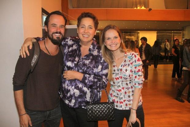 Paulo Vilhena, Claudia Jimenez e Fernanda Rodrigues (Foto: Daniel Delmiro/AgNews)