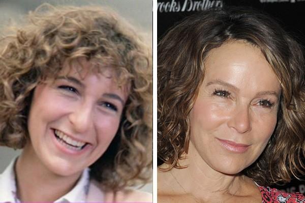 Jennifer Grey em 1986 e em 2014 (Foto: Reprodução / Getty Images)