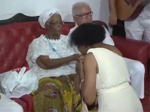 Mãe Stella de Oxossi  (Foto: Reprodução/ TV Bahia)