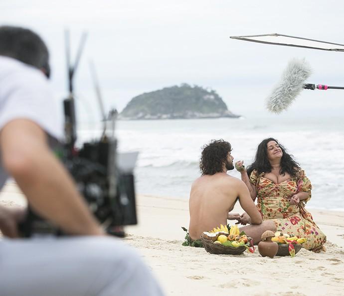 Making of revela todo processo de construção do spin-off de Haja Coração (Foto: Raphael Dias/Gshow)