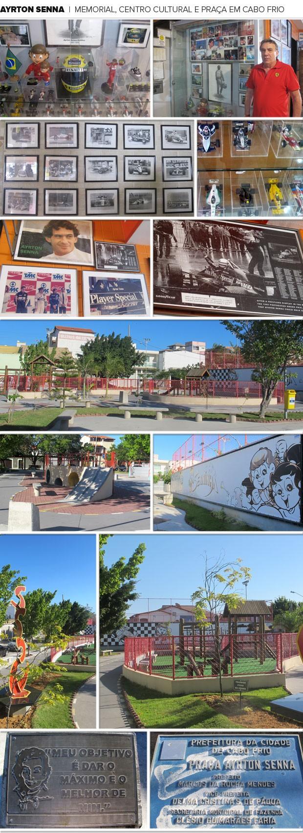 Mosaico - Ayrton Senna Memorial Praça Cabo Frio (Foto: Gabriel Fricke)