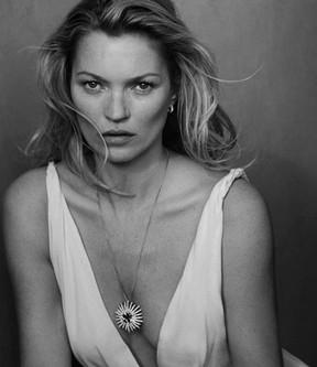 Kate Moss para campanha de joias (Foto: Reprodução / David Yurman)