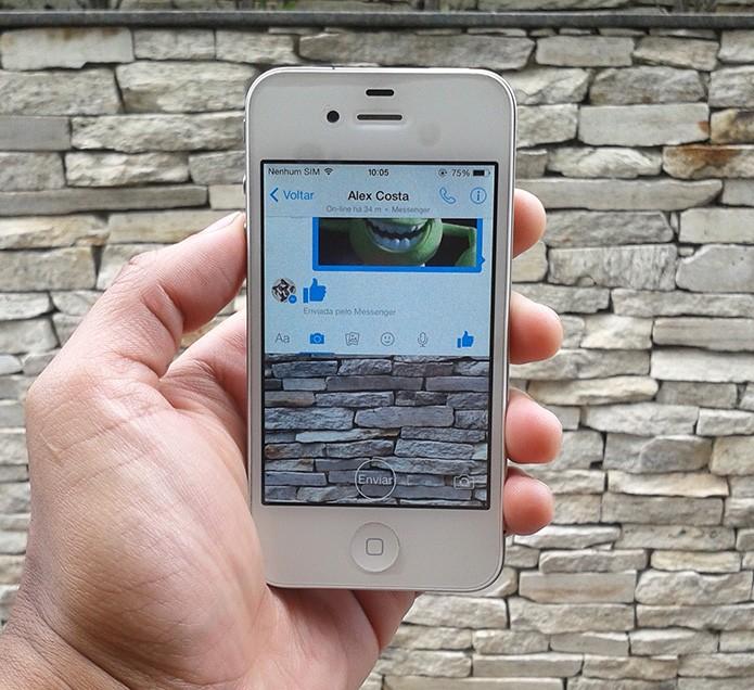 Facebook Messenger agora permite compartilhar vídeos instantâneos (Foto: Marvin Costa/TechTudo)