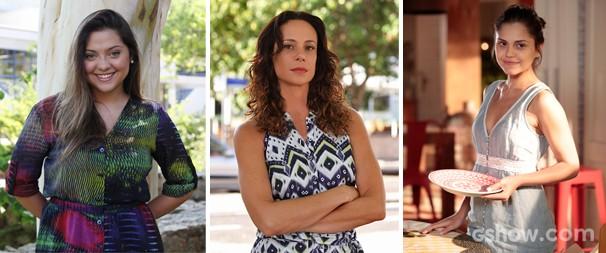 Vanessa Gerbelli, Polliana Aleixo e Jessika Alves falam sobre músicas de rock favoritas (Foto: Felipe Monteiro / Carol Caminha )
