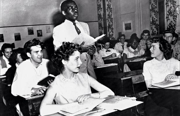 1954 Nathaniel Steward na escola Saint-Dominique. Pela primeira vez em Washington, negros e brancos podiam estudar juntos (Foto: Keystone)